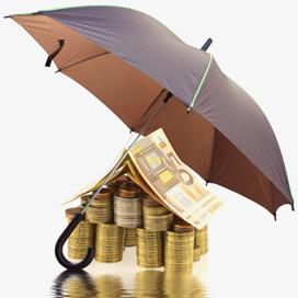 Pieniądze pod parasolem ochronnym